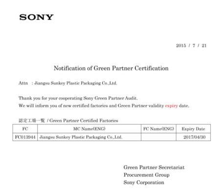 Super-precision film for Sony