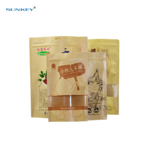 Kraft paper stand up pouch 1