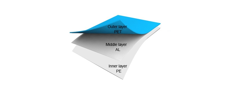 PET AL PE Stock aluminum foil bag's material structure